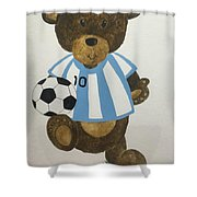 Benny Bear Soccer Shower Curtain