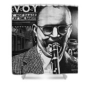 Benny Goodman Shower Curtain