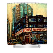 Bens Restaurant Deli Shower Curtain by Carole Spandau