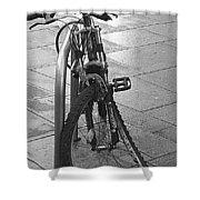 Bent Wheel Shower Curtain