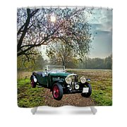 Bentley On A Country Road Shower Curtain