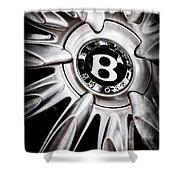 Bentley Wheel Emblem -0303ac Shower Curtain