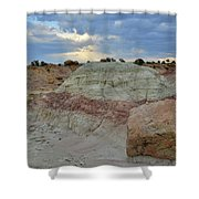 Bentonite Dunes Along Little Park Road Shower Curtain