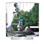 Benz 1916 Ds2 - Hood Ornament Shower Curtain by Kaye Menner