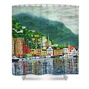 Bergen Harbor Shower Curtain