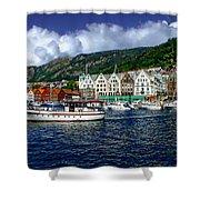 Bergen - Norway Shower Curtain