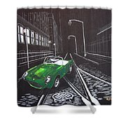 Berkley Sports Car Shower Curtain