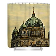 Berlin Architecture Shower Curtain