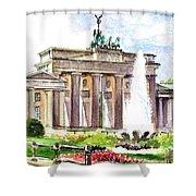 Berlin Brandenburg Gate Shower Curtain