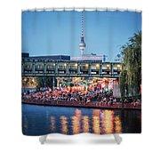 Berlin - Capital Beach Bar Shower Curtain