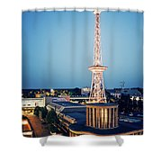 Berlin - Funkturm Shower Curtain
