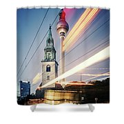 Berlin - Karl-liebknecht-strasse Shower Curtain