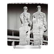 Berlin Olympiastadion - Berlin Olympic Stadium Shower Curtain