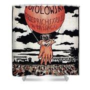 Berlin Potolowsky - Friedrichstrass Passage - Germany - Retro Travel Poster - Vintage Poster Shower Curtain
