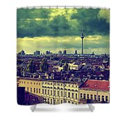 Berlin Roofscape Shower Curtain