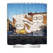 Berlin - Street Art Shower Curtain