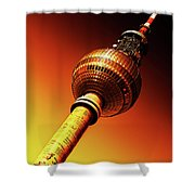 Berlin Television Tower - Berlin I Love You Shower Curtain