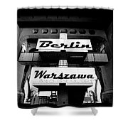 Berlin To Warsaw Frame 1  Shower Curtain
