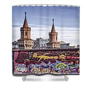 Berlin Wall Shower Curtain