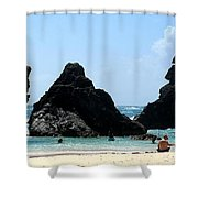 Bermuda Day At The Beach Shower Curtain