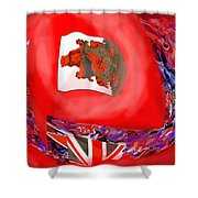 Bermuda Flags Shower Curtain