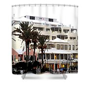 Bermuda Front Street Four Shower Curtain