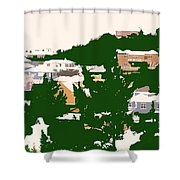 Bermuda Neighborhood Shower Curtain
