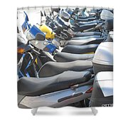 Bermuda Scooters Shower Curtain