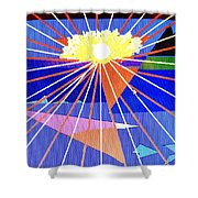 Bermuda Sunset Shower Curtain