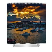 Bermuda Sunset Shower Curtain