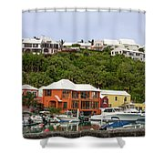 Bermuda Waterside Scene Shower Curtain
