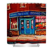 Bernard Fruit And Broomstore Shower Curtain