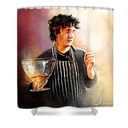 Bernards Brandy Shower Curtain