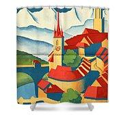 Berne Switzerland - Folded Shower Curtain