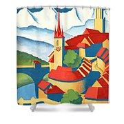 Berne Switzerland - Restored Shower Curtain
