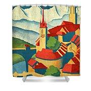 Berne Switzerland - Vintagelized Shower Curtain