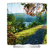 Bernharts Dam Fall 12-25 Shower Curtain