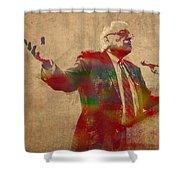 Bernie Sanders Watercolor Portrait Shower Curtain