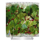 Berries And Leaves 51 Shower Curtain