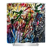 Berries Over Flowers Shower Curtain