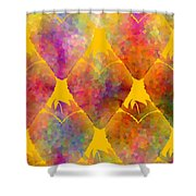 Berry Hearts - Food Pattern Shower Curtain