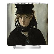 Berthe Morisot With A Bouquet Of Violets Shower Curtain