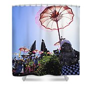 Besakih Temple Festival Shower Curtain