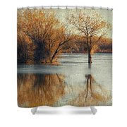 Beside Still Waters-color Shower Curtain