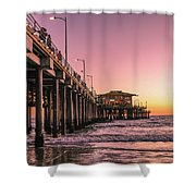 Beside The Pier By Mike-hope Shower Curtain by Michael Hope