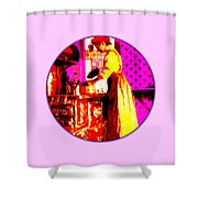 Bessie Goodell Clark At Her Wehrle Stove Shower Curtain by Eikoni Images