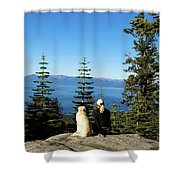Best Buddies At Lake Tahoe Shower Curtain