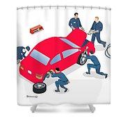 Best Car Service Center In Gurgaon Shower Curtain