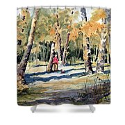 Walking With A Friend Shower Curtain