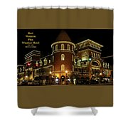 Best Western Plus Windsor Hotel - Christmas Shower Curtain